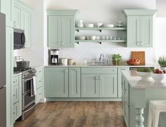46 cute and small kitchen design ideas. Small kitchen design ideas should be ways you come up with to save as much space as possible while having everything you . Home Depot Kitchen, New Kitchen, Home Kitchens, Kitchen Decor, Kitchen Ideas, Awesome Kitchen, Kitchen Modern, Country Kitchen, Kitchen Interior