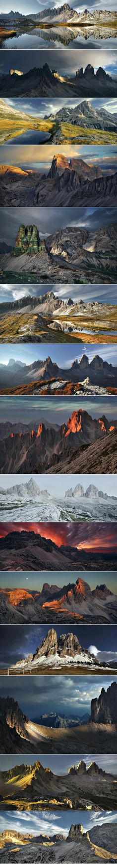 Landscape mountains photography dolomites