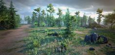 Nature Package by SilverTm in Environments - Marketplace Unreal Engine, Environmental Art, Pine Tree, Mountains, Stone, Flowers, Nature, Tech, Travel