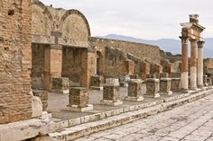 Ancient Ruins of Pompeii in Rome, Italy