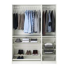 PAX Wardrobe - - - IKEA Wardrobe, white, Fardal high-gloss/white