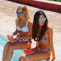 Pool days are the best days.🍉☀️  Wooden Sunglasses Bamboo Sunglasses Wood Sunglasses