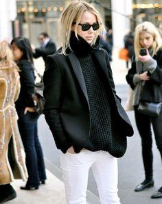 Le parfait look noir et blanc #42 (photo Elin Kling)