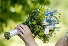 Brautstrauß Vergissmeinnicht
