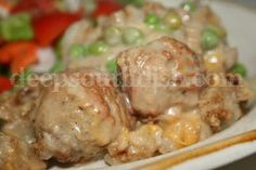 Meatball and Stuffing Bake