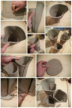 Making of raku pottery Anemone Planter Pot by Federico Becchetti