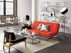Tesso Bookcase (x2) from CB2. Good example of what three would look like.