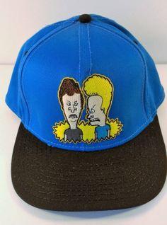 BEAVIS and BUTTHEAD Baseball CAP Hat Turquiose and Black #BaseballCap