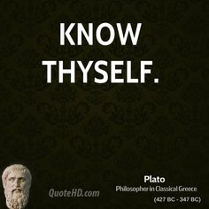 KNOW THYSELF, Before Thyself Decides to Know Someone Else or Thyself's other Someone  ●>\|/<●