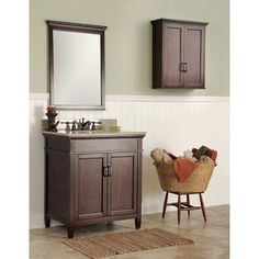 Foremost Naples 30 in. W x 21.63 in. D Vanity Cabinet Only in Warm ...