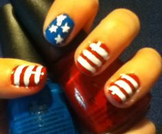 How to Create 4th of July Nails - Snapguide