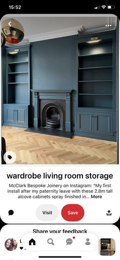 Alcove Cabinets, Living Room Storage, Joinery, Garage Doors, London, Outdoor Decor, Home Decor, Carving, Woodworking