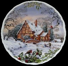 Royal Albert - Dream Cottages - Collector Plates - Winter