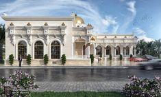Al Hammam Villas Complex on Behance Neoclassical Architecture, Islamic Architecture, Home Building Design, Building A House, Townhouse Exterior, Modern Villa Design, Village House Design, Luxury Homes Dream Houses, House Floor Plans