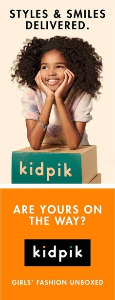 Introducing Kidpik, the first ever KIDS CLOTHING SUBSCRIPTION BOX! How does it work? Create a Style Profile for your daughter and choose your own budget and box frequency. Then sit back and relax as your expertly edited, customized, high quality kids ensembles arrive at your doorstep for free! No need to lug around shopping bags or spend hours on the internet looking for kid clothes, Kidpik is the ultimate kids clothing solution. Free Shipping and Easy Free Returns. www.Kidpik.com
