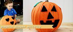 Toddler Pumpkin Shape #fall kids activity