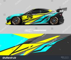 Abstract racing background for wrapping vehicles, race cars, cargo van, pickup trucks, and racing livery. Car Decals, Car Stickers, Car Paint Jobs, Racing Car Design, Drift Trike, Cargo Van, Car Colors, Easy Rider, Car Painting