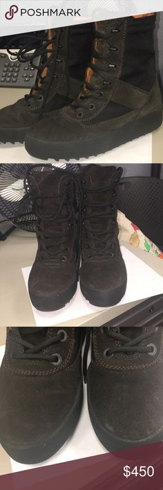 6b301870e7f Yeezy Season 3 military boot Gently used season 3 military boots Brown and black  Size 39 Yeezy Shoes Combat   Moto Boots