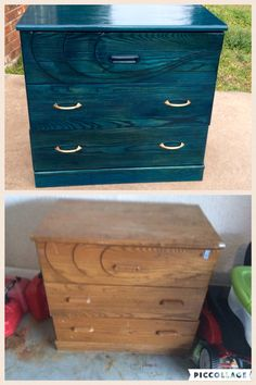 Before and after $20 Craigslist find rejuvenated with Unicorn Spit