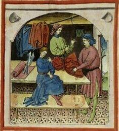 Tacuinum Sanitatis - BNF Ms. Latin 9333 Date: Rhineland, mid- 15th century.  fol 104r seidene Kleider