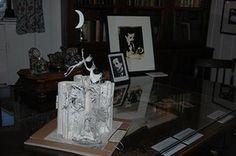 Book sculptures in situ:  J. M. Barrie's Peter Pan