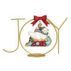Old World Christmas is excited to introduce several new products for the 2016 line, including this amazing ornament stand! The Single Joy Stand is a wonderful way to display a treasured ornament. #OWC2016line #new #ornamentstand #oldworldchristmas #christmasdisplay #christmasdecorations Single Joy Stand NEW! Item #14202