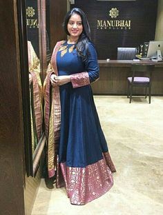 Heavy Dresses, Nice Dresses, Indian Dresses, Indian Outfits, Ethnic Fashion, Indian Fashion, Long Frocks For Girls, Kalash, Kurti Designs Party Wear