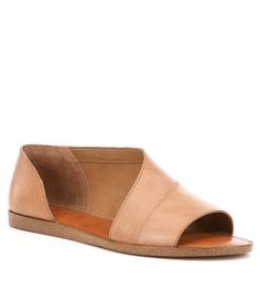 1. STATE Celvin Nubuck d'Orsay Open Toe Flats ADEHSQFX