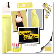 """""""PlusSizeF♥rLess"""" by plussizeforless ❤ liked on Polyvore featuring Dolce&Gabbana, Summer, yellow and plussizeforless"""