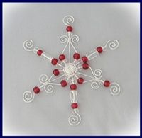 Beautiful Easy DIY Wire and Bead Christmas Ornament