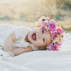 Flower crown. Look at that happy face!