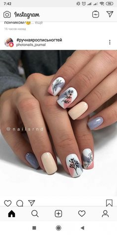 I wonder if we have these stamps. Classy Nails, Stylish Nails, Trendy Nails, Cute Acrylic Nails, Acrylic Nail Designs, Cute Nails, Minimalist Nails, Dream Nails, Square Nails