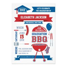 Graduation bbq invitation bbq invitation graduation cookout modern gradation bbq invitation filmwisefo
