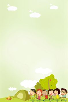 Green Grassland Child Tent - Lilly is Love Kids Background, Background Images, How To Draw Balloons, Cartoon Trees, Doodle Frames, Instagram Frame Template, Celebration Background, Powerpoint Background Design, Design Floral