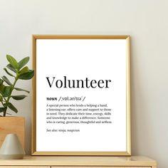 Volunteer Appreciation Thank You Gift Card Volunteer Cards | Etsy