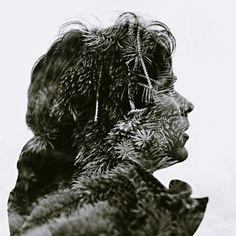 Superb Multiple Exposure Portraits by Christoffer Relander multiple exposures black and white