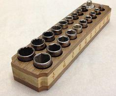 Wood and Magnet Socket Holder