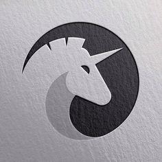 unicorn logo design, unicorn in circle abstract, ornamental animal logo design, horse black and white minimal geometric logo design inspiration ideas for branding and identity graphic design Creative Logo, Logo Esport, Art Logo, Graphisches Design, Icon Design, Design Ideas, Logo Animal, Unicorn Logo, Inspiration Logo Design