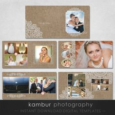 12X12, 10x10 PSD (28 pages), Wedding Album Template - 14 spread and ...