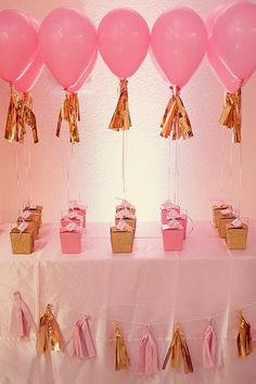 85 Ideias De Decoracao Com Baloes Impressionantes 1st Birthday Party Favors GirlBirthday Return GiftsPink
