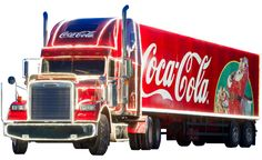 Coca Cola Christmas Truck transparent image