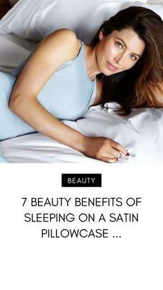 7 Beauty Benefits of Sleeping on a Satin Pillowcase . Beauty Skin, Health And Beauty, Image Coach, Satin Pillowcase, Hair Breakage, Prevent Hair Loss, Smooth Hair, Shiny Hair, Skin So Soft