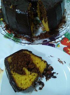 Receita de Bolo de Cenoura com Chocolate de Liquidificador - Receita Toda Hora