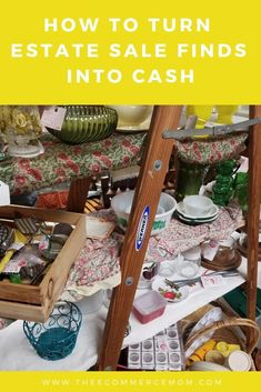 Learn how to sell estate sale treasures to sell and make money. Get a free list of 50 items you can buy at estate sales and flip for profit. Money Tips, Money Saving Tips, Make Money From Home, How To Make Money, Dave Ramsey Debt Snowball, Ebay Selling Tips, Making Extra Cash, Budgeting Money, Queen
