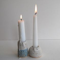 Maybe I could make 'intertwined' candle holders! :O -AC