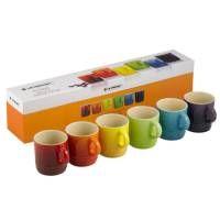 Le Creuset Rainbow Stoneware Set Of 6 Espresso Mugs
