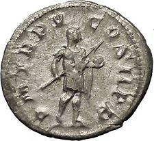 GORDIAN III with globe - power symbol RARE Ancient Silver Roman Coin i53228
