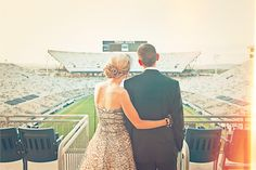 Wedding Venue at (Beaver) football stadium - husband would have loved this! Melissa you could of gotten married there!