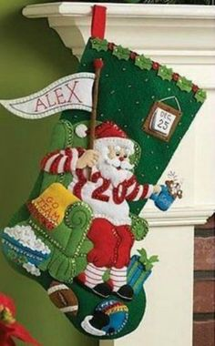 cool The Ultimate Fan, Bucilla felt applique stocking kit, Football Santa, Kit #86504 Check more at https://aeoffers.com/product/arts-and-crafts-collectibles-handmade-online/the-ultimate-fan-bucilla-felt-applique-stocking-kit-football-santa-kit-86504/