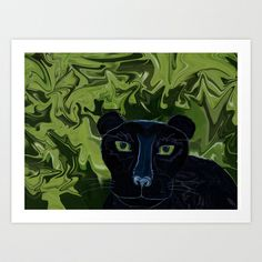 Do Panthers Fly? Art Print by DistortionArt #blackpanther #panther #artwork #society6 #art #framedart #mugs #cases #decals #showercurtain #throwpillow #rug #clock #tshirts #totebags #artprints #framedart #stretchedcanvas